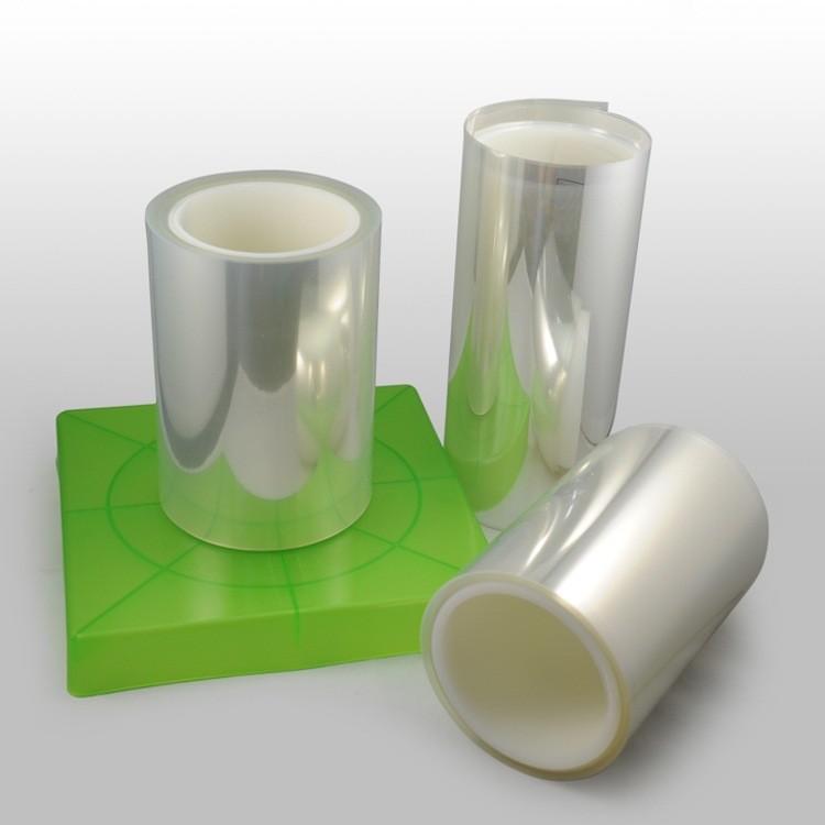 生产硅胶单层pet保护膜透明低粘贴合扩散膜排废钢片