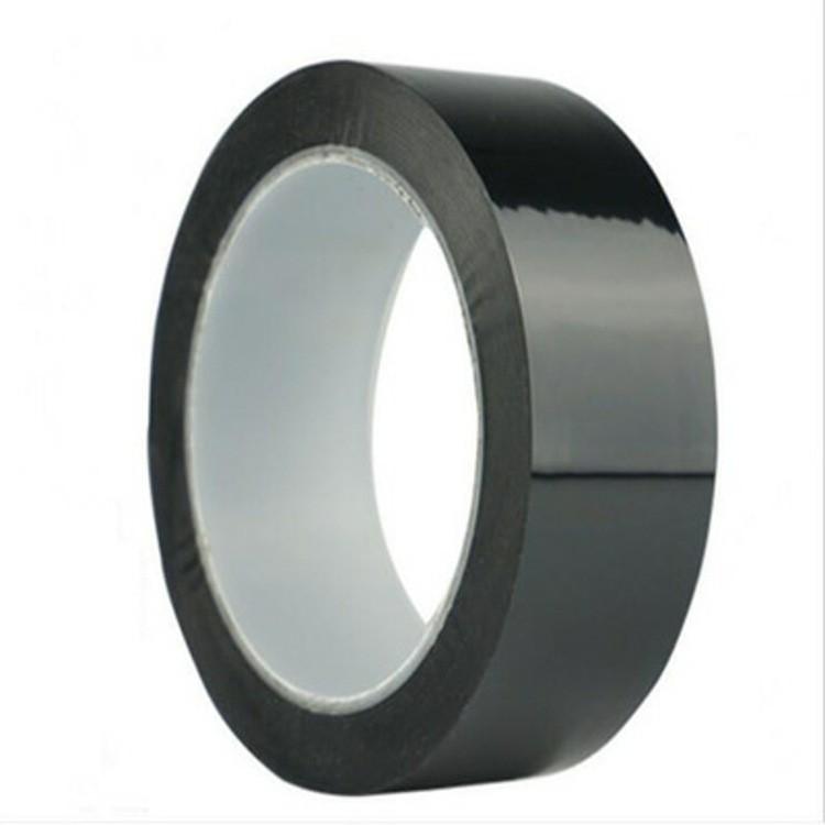 黑色PET电池专用胶带哑黑色胶带厚度齐全哑黑色单面胶电池标